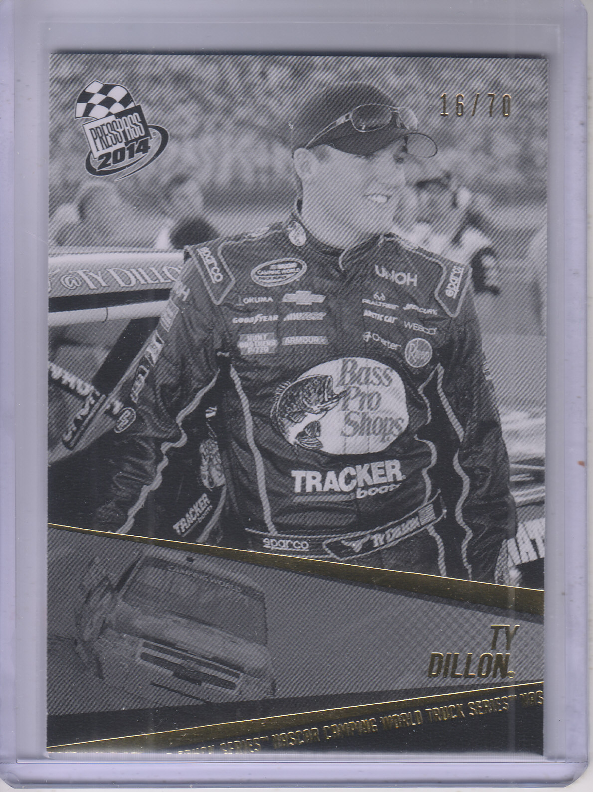 2014 Press Pass Color Proofs Black #62 Ty Dillon CWD