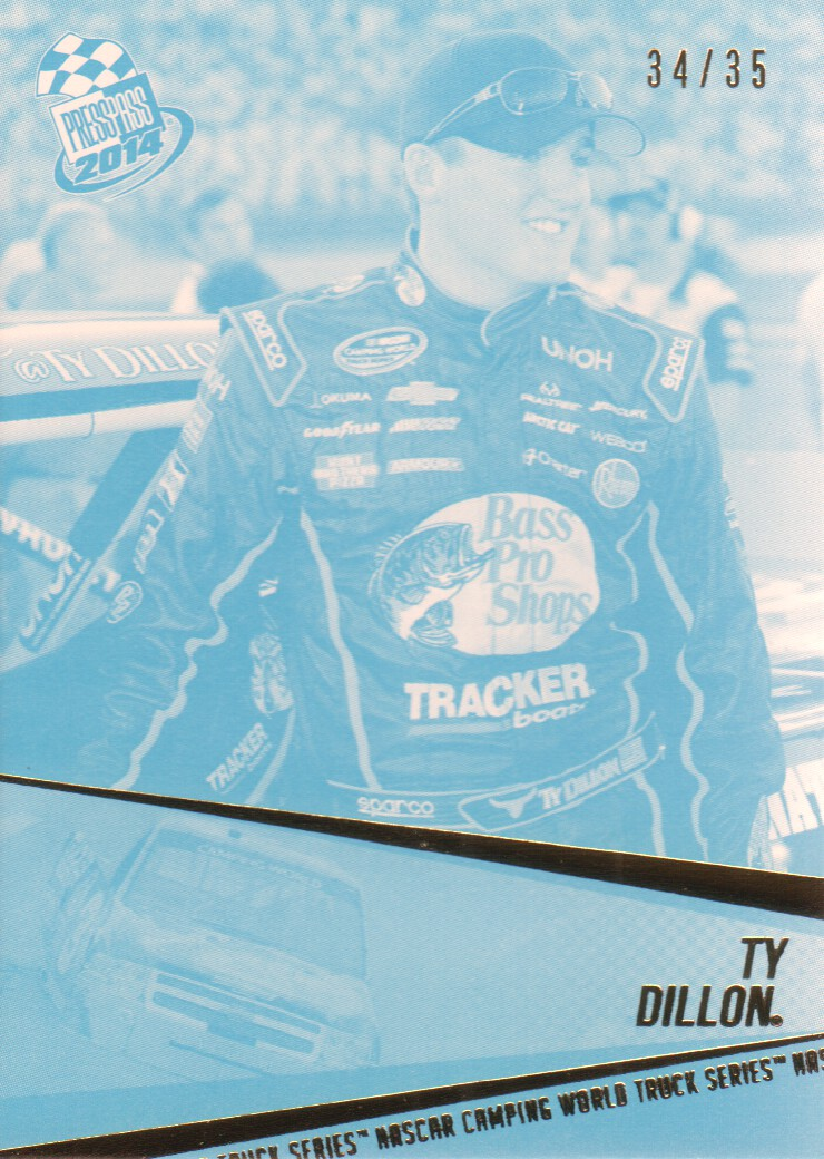 2014 Press Pass Color Proofs Cyan #62 Ty Dillon CWD