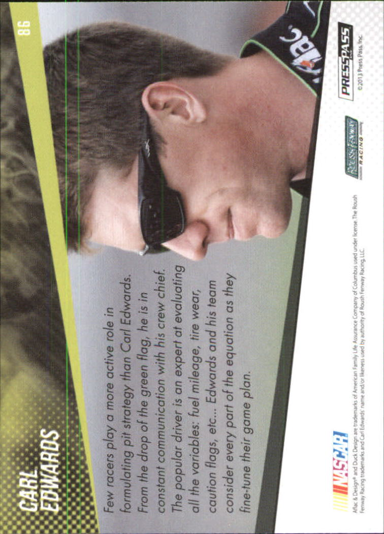 2014 Press Pass Color Proofs Cyan #86 Carl Edwards HS