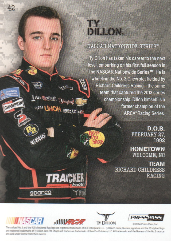 2014 Press Pass American Thunder #42 Ty Dillon NNS