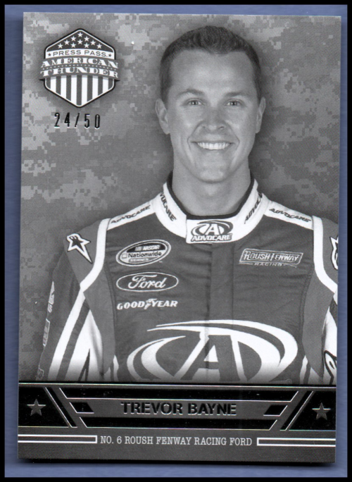 2014 Press Pass American Thunder Black and White #40 Trevor Bayne NNS