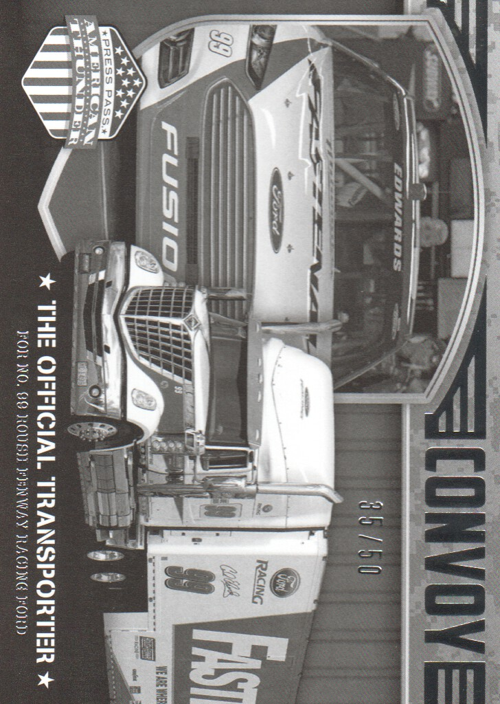 2014 Press Pass American Thunder Black and White #69 Carl Edwards' Rig