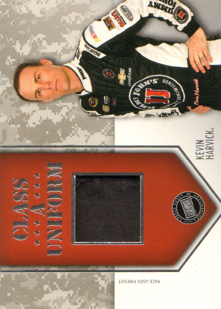 2014 Press Pass American Thunder Class A Uniforms Silver #CAUKH Kevin Harvick
