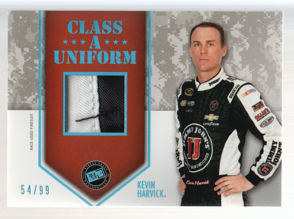 2014 Press Pass American Thunder Class A Uniforms Blue #CAUKH Kevin Harvick