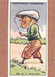 1931 Churchman's Prominent Golfers Small #49 O. Willing