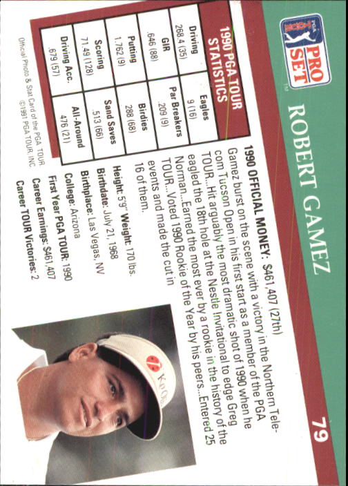 1991 Pro Set #79 Robert Gamez
