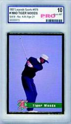 1997 Legends Tiger Woods #2 Tiger Woods Age 21