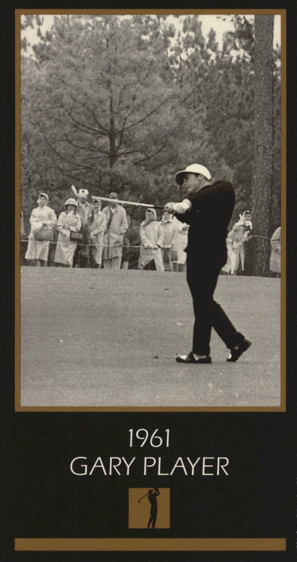 1997-98 Grand Slam Ventures Masters Collection #1961 Gary Player 61