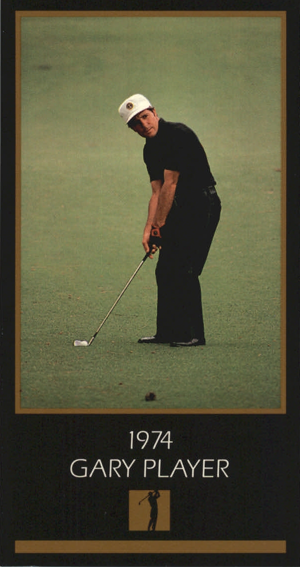 1997-98 Grand Slam Ventures Masters Collection #1974 Gary Player 74