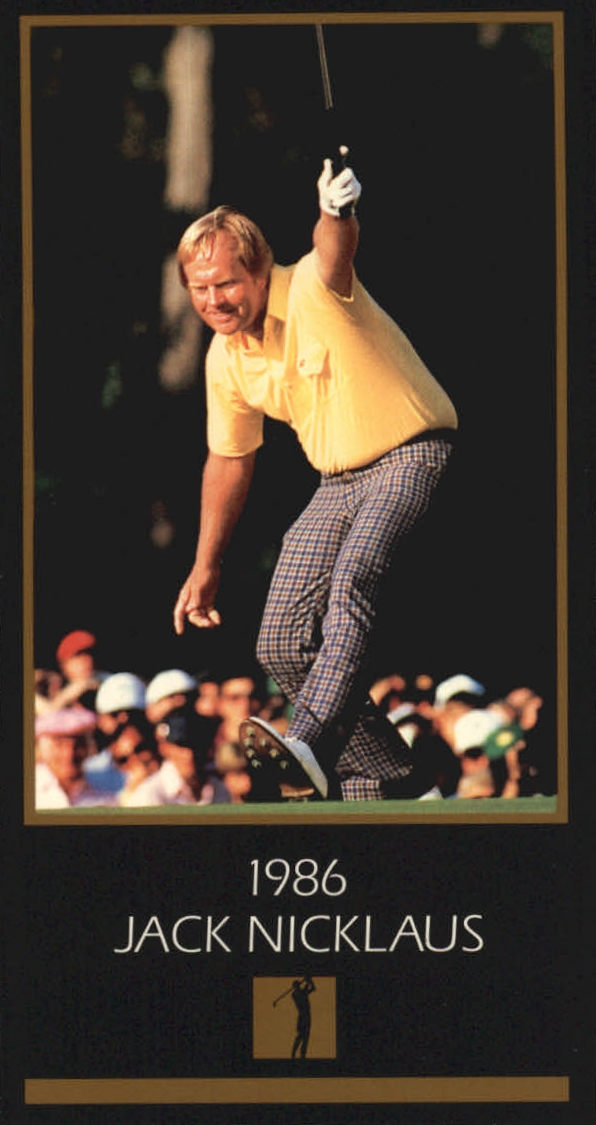 1997-98 Grand Slam Ventures Masters Collection #1986 Jack Nicklaus 86