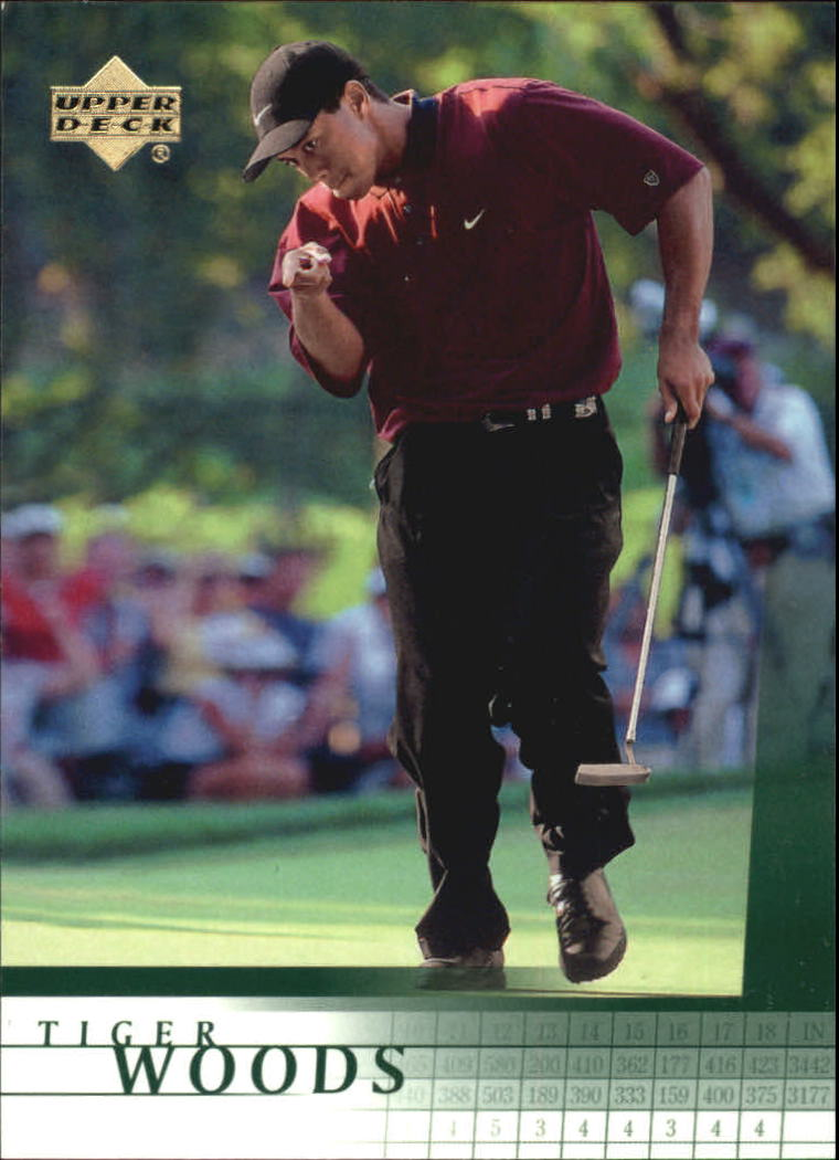 2001 Upper Deck #1 Tiger Woods RC front image