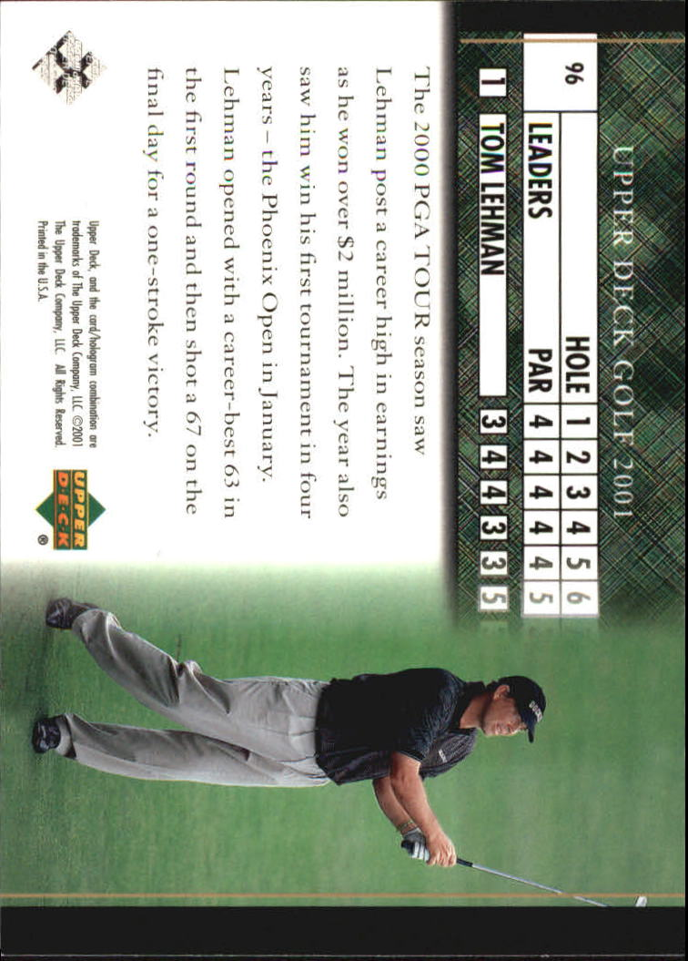 2001 Upper Deck #96 Tom Lehman LB