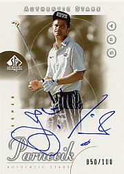 2001 SP Authentic Gold #47 Jesper Parnevik AS AU