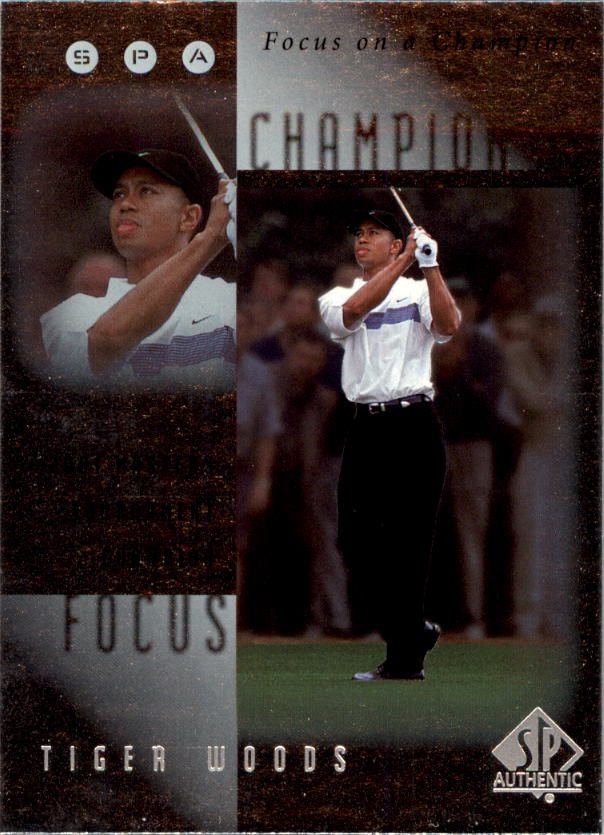 2001 SP Authentic Focus on a Champion #FC4 Tiger Woods