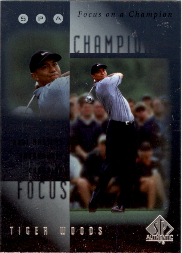 2001 SP Authentic Focus on a Champion #FC6 Tiger Woods