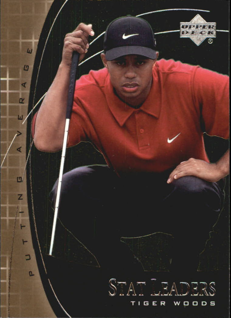 2001 Upper Deck Stat Leaders #SL7 Tiger Woods