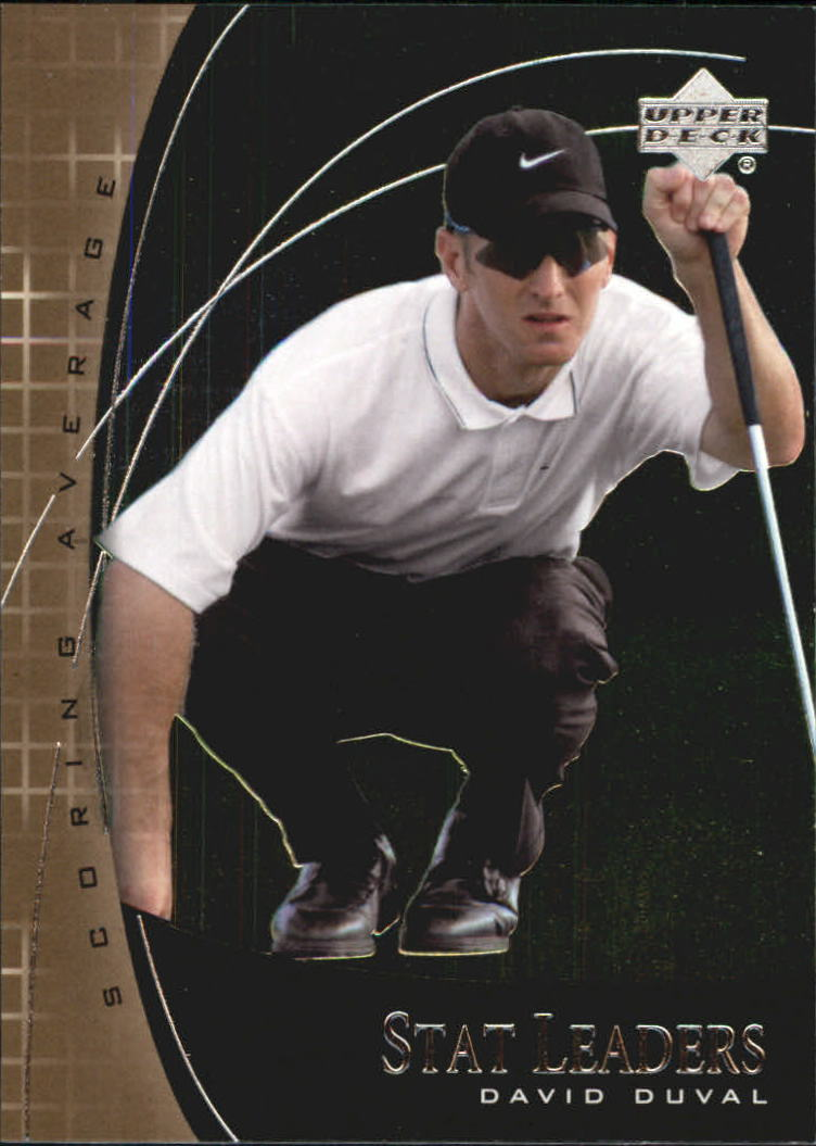 2001 Upper Deck Stat Leaders #SL12 David Duval