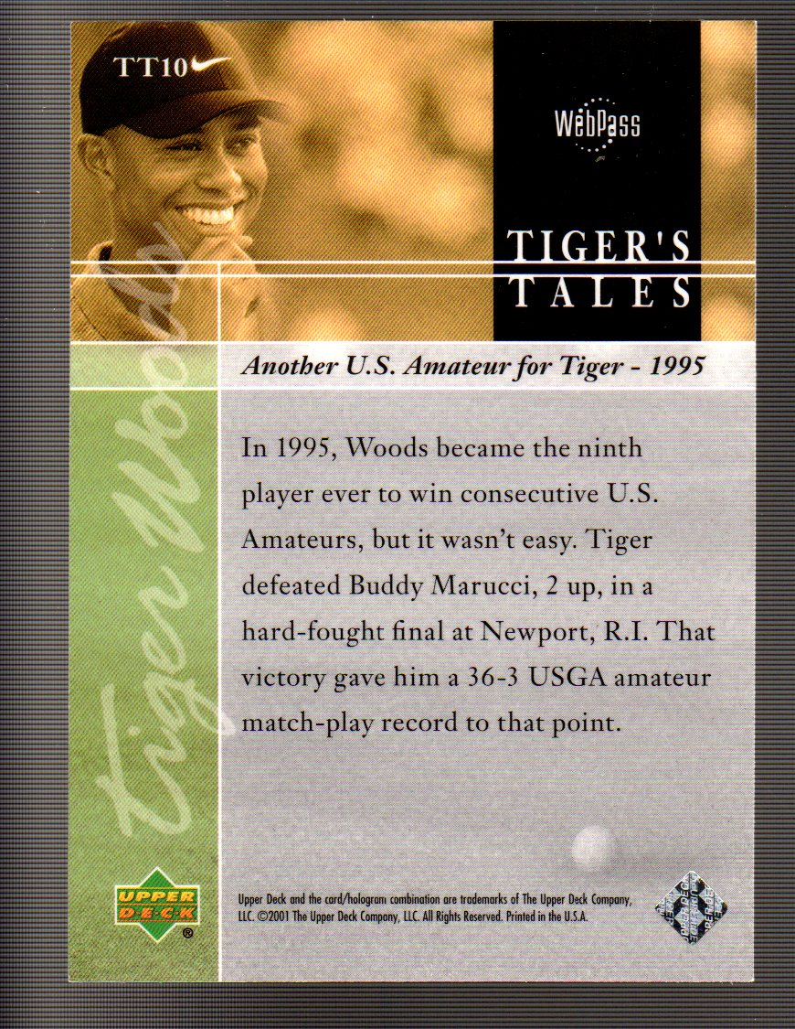 2001 Upper Deck Tiger's Tales #TT10 Tiger Woods back image