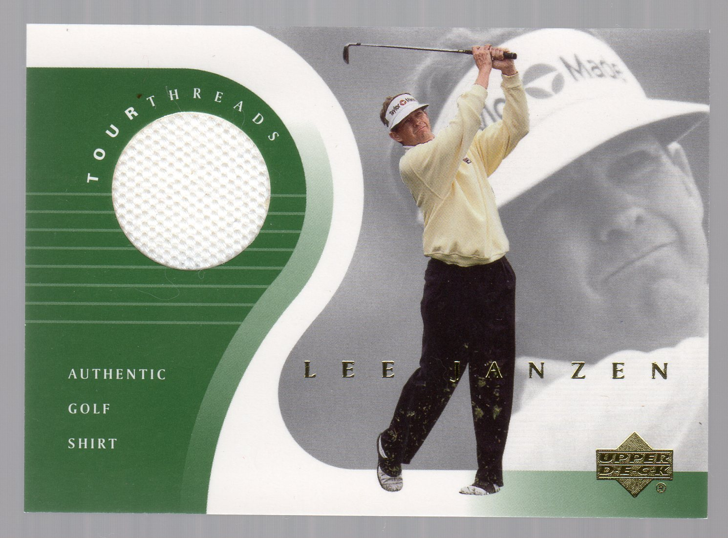 2001 Upper Deck Tour Threads #TTLJ Lee Janzen