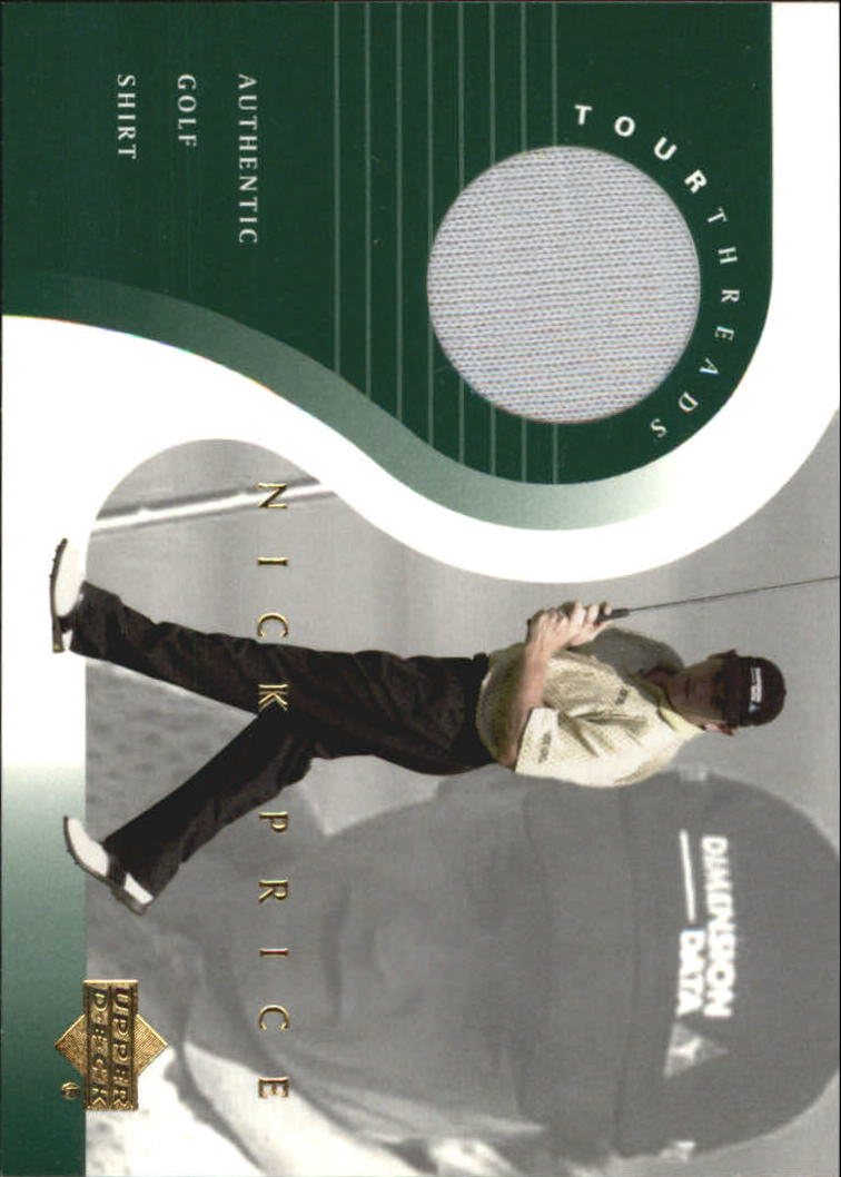 2001 Upper Deck Tour Threads #TTNP Nick Price