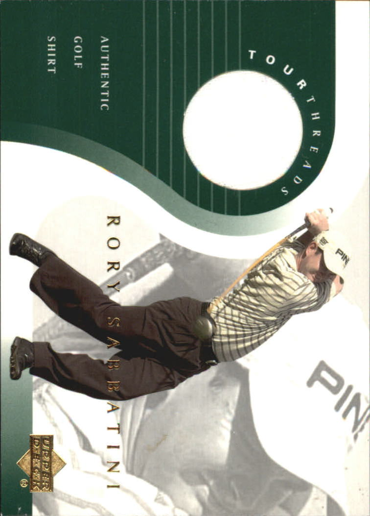 2001 Upper Deck Tour Threads #TTRS Rory Sabbatini