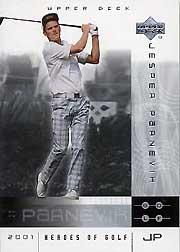 2001 Upper Deck Heroes of Golf National Convention Promos #4JP Jesper Parnevik