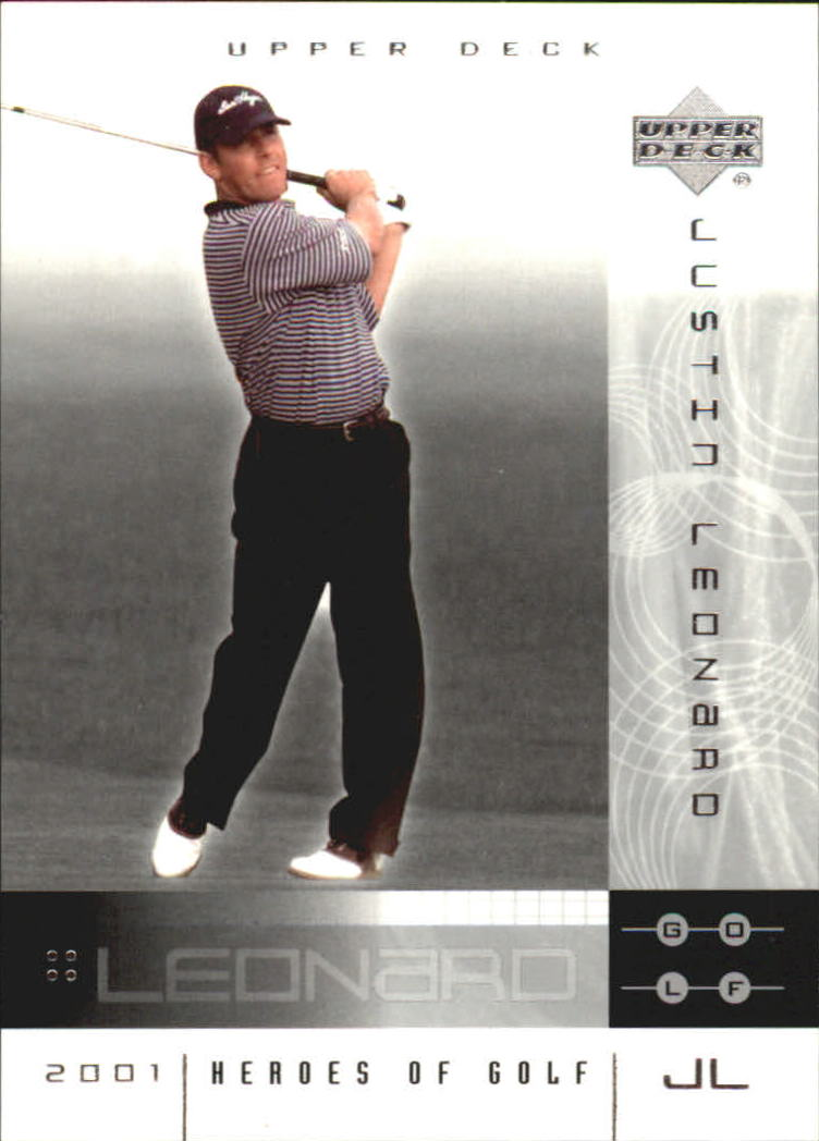 2001 Upper Deck Heroes of Golf National Convention Promos #6JL Justin Leonard