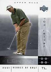 2001 Upper Deck Heroes of Golf National Convention Promos #9TL Tom Lehman