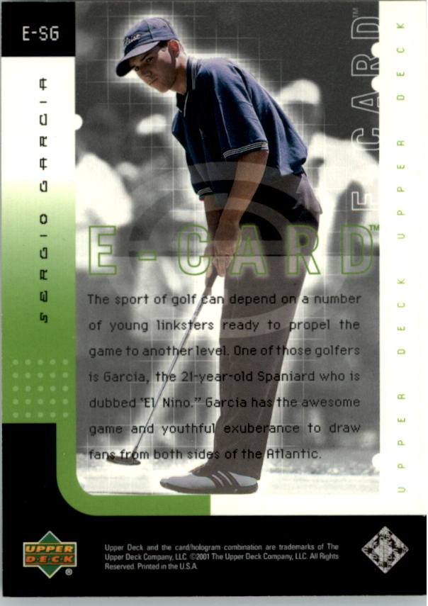 2001 Upper Deck e-Card #ESG Sergio Garcia back image