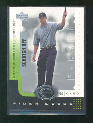 2001 Upper Deck e-Card #ETW Tiger Woods