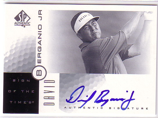 2001 SP Authentic Sign of the Times #DB David Berganio