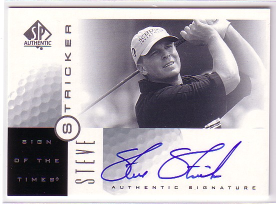 2001 SP Authentic Sign of the Times #SS Steve Stricker