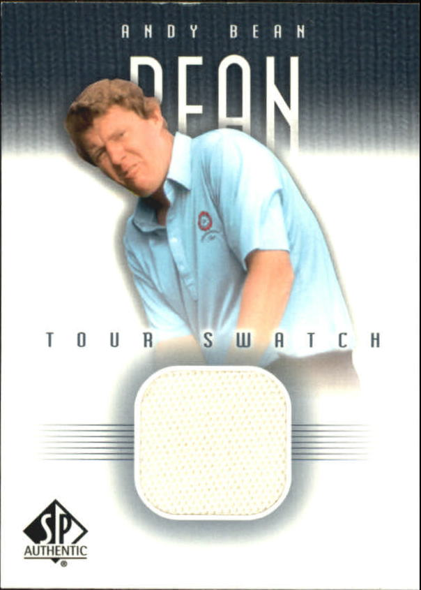 2001 SP Authentic Tour Swatch #ABTS Andy Bean