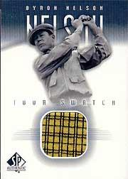 2001 SP Authentic Tour Swatch #BNTS Byron Nelson