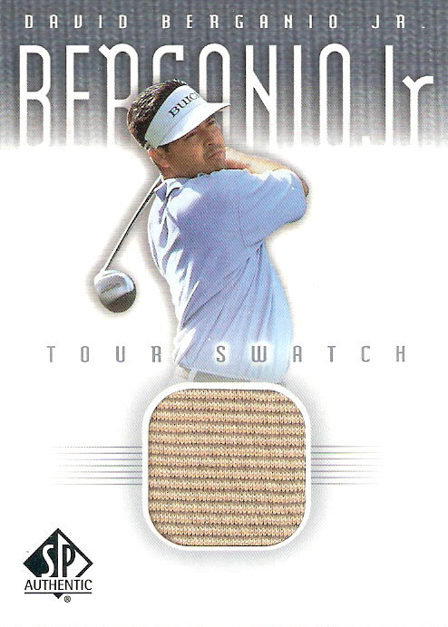 2001 SP Authentic Tour Swatch #DBTS David Berganio