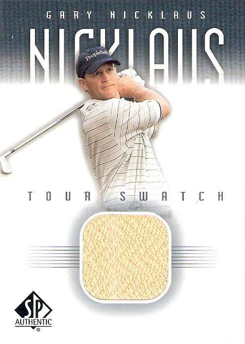 2001 SP Authentic Tour Swatch #GNTS Gary Nicklaus