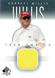2001 SP Authentic Tour Swatch #GWTS Garrett Willis