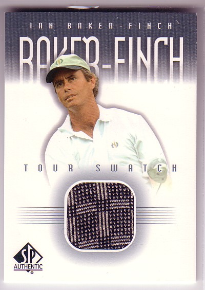 2001 SP Authentic Tour Swatch #IFTS Ian Baker-Finch