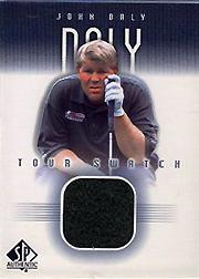 2001 SP Authentic Tour Swatch #JDTS John Daly SP *
