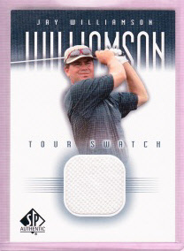 2001 SP Authentic Tour Swatch #JWTS Jay Williamson