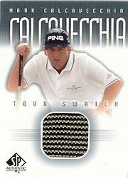 2001 SP Authentic Tour Swatch #MCATS Mark Calcavecchia