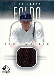 2001 SP Authentic Tour Swatch #NFTS Nick Faldo
