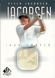 2001 SP Authentic Tour Swatch #PJTS Peter Jacobsen