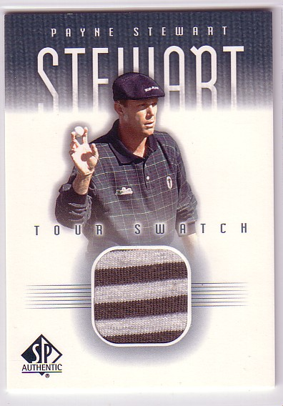2001 SP Authentic Tour Swatch #PSTS Payne Stewart