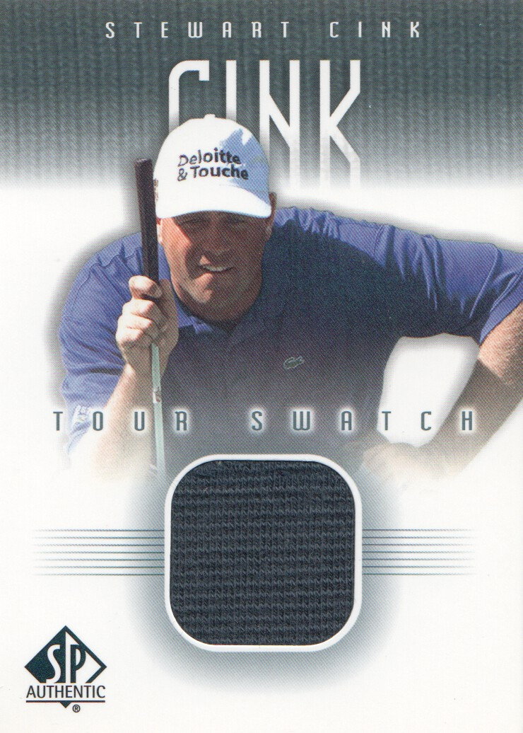 2001 SP Authentic Tour Swatch #SCTS Stewart Cink