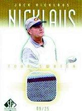 2001 SP Authentic Tour Swatch 25 #JNTS Jack Nicklaus