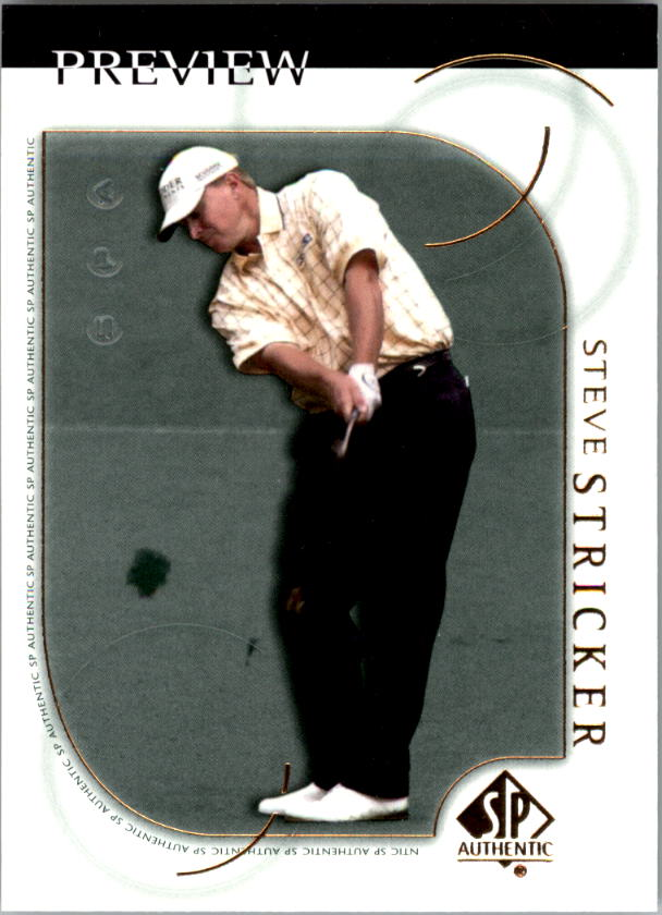 2001 SP Authentic Preview #18 Steve Stricker