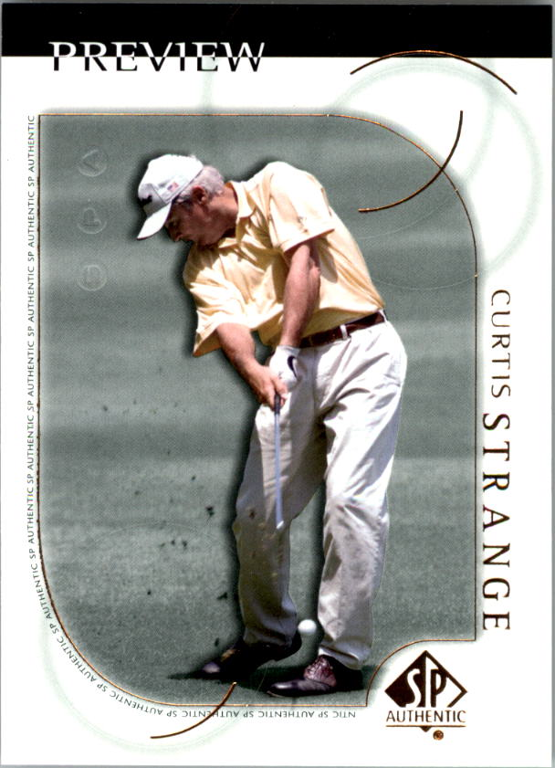 2001 SP Authentic Preview #20 Curtis Strange