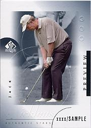 2001 SP Authentic Preview #35 Jack Nicklaus STAR
