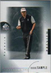 2001 SP Authentic Preview #46 Padraig Harrington STAR